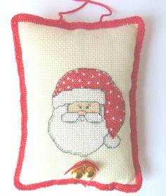 SANTA  HANDMADE Decor. Christmas Decor by CrossStitchElizabeth