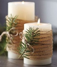 8 Minutes Simple Christmas Candles Decoration – Christmas Decorations – Christmas crafts for gifts Christmas Candle Decorations, Christmas Candles, Thanksgiving Decorations, Christmas Trees, Thanks Giving Table Decorations, Christmas Decorations Diy Crafts, Christmas Staircase, Christmas Houses, Winter Decorations