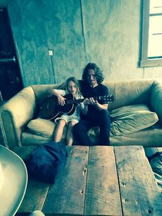 Chris Cornell and his kid.  Lovely pic.