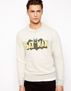 Pull&Bear Sweat with Batman Print