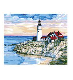 Plaid ® Paint by Number - Morning at Port   Plaid Enterprises
