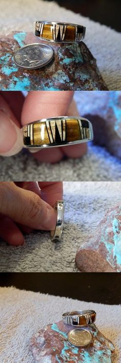 Rings 98500: New Mens Sterling Tigers Eye Jasper Inlay Ring Navajo Rick Tolino Size 12 1 2 -> BUY IT NOW ONLY: $117.77 on eBay!