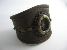 ☯☮ॐ American Hippie Bohemian Style ~ Boho leather cuff!