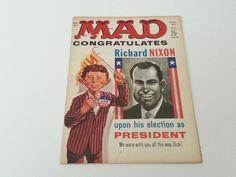 Vintage Mad Magazine No. 60 January 1961 Nixon Kennedy as President Cover