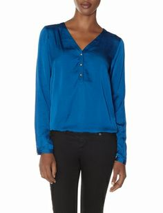V-Neck Henley Blouse from THELIMITED.com #ItsTime #TheLimited