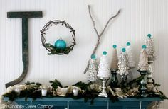 Create this darling Christmas craft in only a few minutes - and for about $1. Super easy tutorial for Christmas decor.