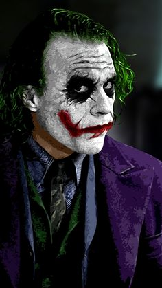The Joker The Dark Knight wallpaper x WallpaperUP Batman Joker Wallpaper, Joker Iphone Wallpaper, Joker Wallpapers, Joker Photos, Joker Images, Der Joker, Heath Ledger Joker, Dark Knight Wallpaper, Joker Painting