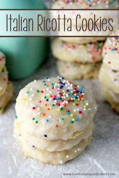 Italian Ricotta Cookies by Jamie @ Love Bakes Good Cakes