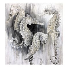 Seahorses  Giclée Print from Original Painting by hungryknife,