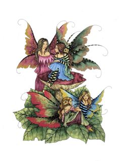 Amy Brown Four Faeries