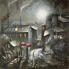 View and buy the latest artwork from Bob Barker. We have a large collection of Bob Barker artwork. Nocturne, Umbrella Art, Cool Art Drawings, English Artists, New Art, Vintage Art, Illustration Art, Illustrations, Art Gallery