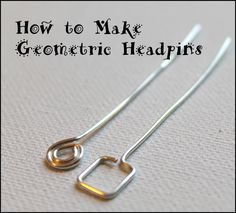 How to Make Geometric Headpins.  #Wire #Jewelry #Tutorials