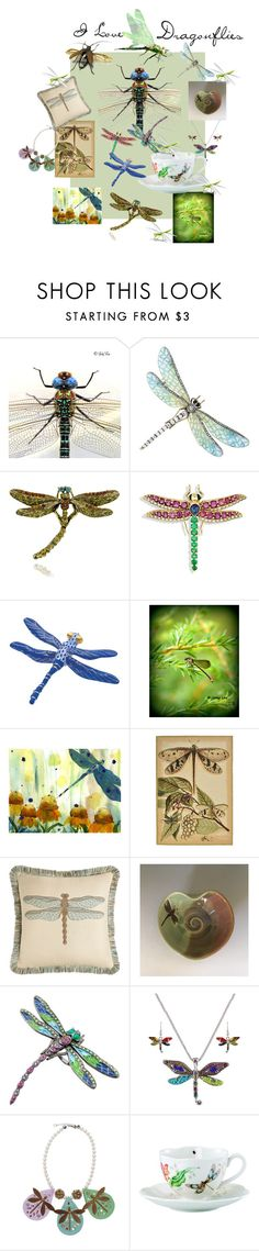 """""""I Love Dragonflies"""" by putterpaws ❤ liked on Polyvore featuring beauty, Herend, Damselfly, Elaine Smith, Prova and Lenox"""