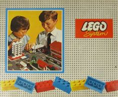 Vintage LEGO Box Set (early 1960's) The  lid  features the founders grandchildren. The boy to the right is the current chairman.