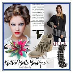 """""""Knitted Belle Boutique"""" by amnagirl ❤ liked on Polyvore featuring EASEL and ShoeMaiden"""