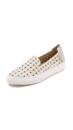 I love that these look comfy and casual but the fabric dresses them up just a notch. Rachel Zoe Burke Slip On Sneakers