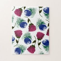 Dream Big Digital Design: Products on Zazzle Watercolor Flowers, Watercolor Art, Pink And Green, Blue, Animal Skulls, Design Products, Dream Big, Pink Roses, Jigsaw Puzzles