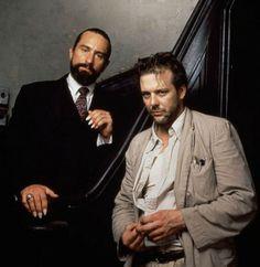 """Robert de Niro y Mickey Rourke en """"El Corazón del Ángel"""" (Angel Heart), 1987"""