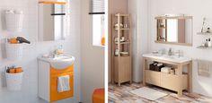 50 Fotos de móveis para casa de banho pequena ~ Decoração e Ideias Double Vanity, Bathroom, Storage, Inspiration, Furniture, Home Decor, Small Bathrooms, Restroom Decoration, October