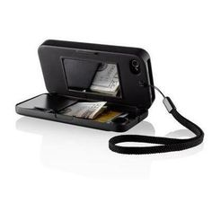 iPhone case that holds money/card, has a mirror and turns into a kickstand.