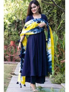 Indian Designer Readymade Blue Salwar Kameez Ethnic Wear Palazzo Punjabi Suit #Handmade #SalwarKameez