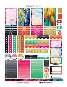 FREE Abstract Paint Printable Planner Stickers by planneraddiction.com