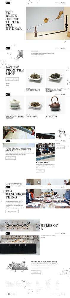 Paper and Tea Online shop design