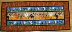 Halloween Spooks Table Runner by CompassQuilts on Etsy
