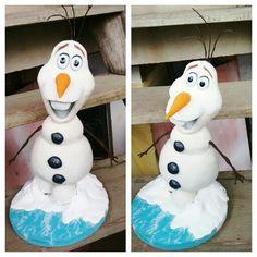 Querido Olaf Escultura de 36 cm de altura do personagem Olaf. Material: biscuit. Gesso e arame. #olaf #frozen #sculpture #art