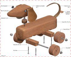 Plan chien à roulette jouet pour enfant