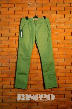 this one is a bright olive chino pants for men we made.