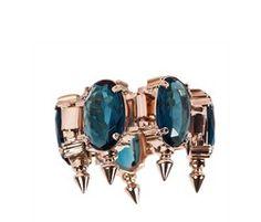 Spiked Blue Oval Bracelet