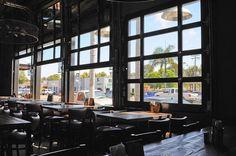 Raynor Glass Garage Doors at Union Kitchen & Tap by Automatic Door Specialists. Garage Door Windows, Glass Garage Door, Garage Door Design, Windows And Doors, Glass Doors, Brewery Design, Restaurant Design, Restaurant Patio, Industrial Garage Door
