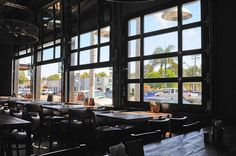 Raynor Glass Garage Doors at Union Kitchen & Tap by Automatic Door Specialists.