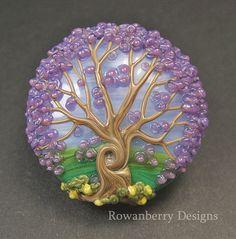 Lilac Blossom Tree   Handmade Lampwork Glass by RowanberryGlass