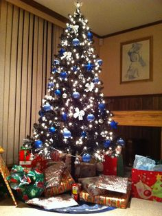My Blue and Silver Christmas Tree