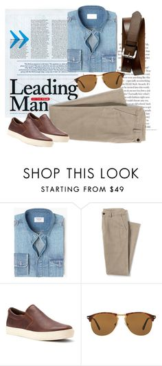 """Leading Man"" by pamela-802 on Polyvore featuring MANGO MAN, Lands' End, Timberland, Persol, Banana Republic, men's fashion, menswear e man"
