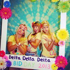 Delta Delta Delta Bid Day Frame Idea #DeltaDeltaDelta #BidDay