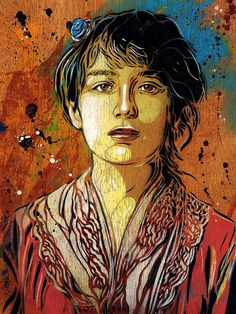 C215 - Portrait of Camille Claudel (from 1884) by C215, via Flickr