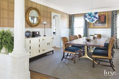nautical-inspired dining room | Carrier and Company Interiors