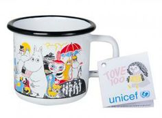 Moomin enamel mug Tove 100 years - Moominworld shop