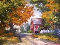 Autumn at the Orchard by Andrew Orr Oil ~ 18 x 24