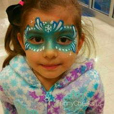 The BEST JOB EVER is being a Face Painter! I Love Face Painting! ... Frozen Princess mask - FunnyCheeksTJ / Dallas Face Painter