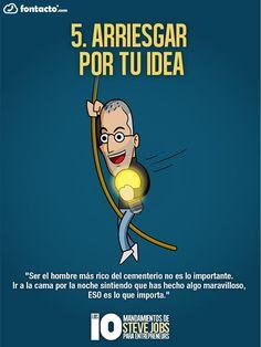El creativo mexicano Alex Eduardo Villegas decidió condensar diez de los puntos de vista expresados por el artífice del fenómeno Apple.