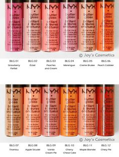 NYX Butter Gloss.. Ugh! I want them all!