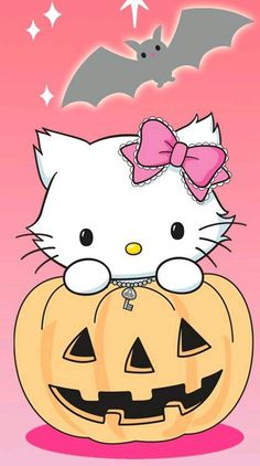 Charmmy Kitty (*^o^*) Hello Kitty Halloween, Kawaii Halloween, Cute Halloween, Hello Kitty Pictures, Kitty Images, Sanrio Wallpaper, Hello Kitty Wallpaper, Hello Kitty Backgrounds, Hello Kitty Art