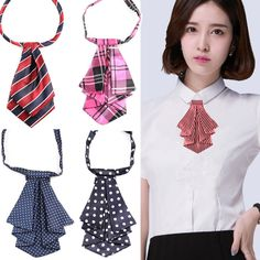 Formal Commercial Bow Tie Women Cravat Silk Waitress Neck We African Print Dresses, African Wear, African Fashion, Dress Neck Designs, Collar Designs, Sewing Clothes, Diy Clothes, Women's Neck Ties, Women Bow Tie