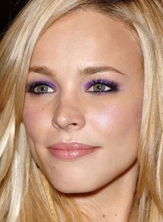 Rachel McAdams showing purple eye shadow can be classy.