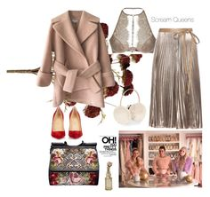 """Pink Lady"" by stylesmanda on Polyvore featuring Carven, Agent Provocateur, Chanel, Christian Louboutin, Dolce&Gabbana, Valentino, Accessorize and Cultural Intrigue"