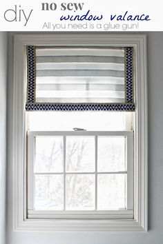 No Sew Window Valance --- All you need is a glue gun!